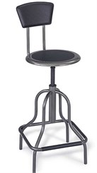 Diesel Series Industrial Stools w/ 22-1/2&quot; to 28-1/2&quot; Seat Height