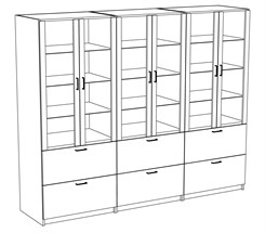 Reception Display Wall Unit