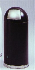 Dome Top Waste Receptacle With Push Door