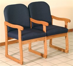 Double Sled Base Chair w/ Arms
