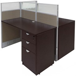 """48""""W x 49""""D x 48""""H Value Series Double Add-On Cubicle"""
