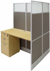"""48""""W x 49""""D x 67""""H Value Series Double Add-On Cubicle"""