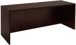 "Mocha 71""W Double Shell/Desk Return"