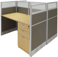 """48""""W x 49""""D x 48""""H Value Series Double Starter Cubicle"""