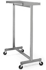 Double Sided Floor Rack -- 4' Wide Rack with Casters