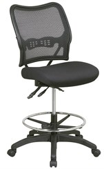 "Air Grid Back Drafting Stool w/ Dual Function Control & 21""-26"" Seat Height"