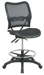 "Air Grid Seat & Back Drafting Stool w/ Dual Function Control and 21"" to 26"" Seat Height"