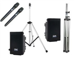Dual Deluxe Portable Sound System Package