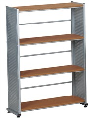 Steel Panel 4 Shelf Bookcase