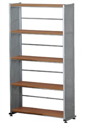 Steel Panel 5 Shelf Bookcase