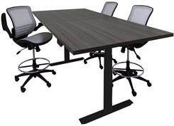 Adjustable Electric Lift 8' Conference Table - Rectangular