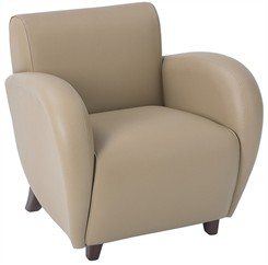 Office Star Eleganza-Taupe Eco Leather Club Chair