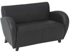 Office Star Eleganza - Black Eco Leather Love Seat