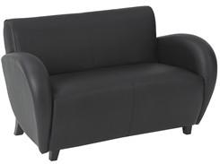 Office Star Eleganza - Black Eco Leather Love Seat