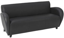 Office Star Eleganza-Black Eco Leather Sofa