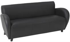 Office Star Eleganza-Black Eco Leather Sofa