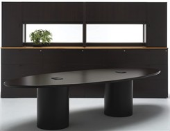 Custom Elliptical Shaped Conference Tables