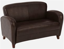Office Star Embrace-Mocha Eco Leather Love Seat