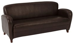 Office Star Embrace-Mocha Eco Leather Sofa