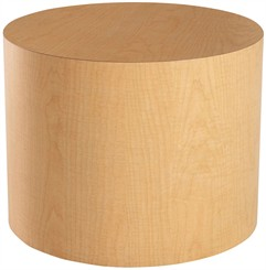 Round Cylinder End Table