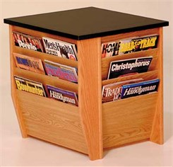 End Table w/12 Magazine Pockets