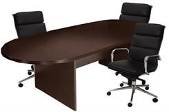 8' Espresso Veneer Conference Table