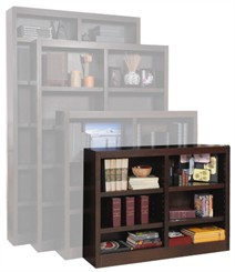 Espresso 48&quot;W Real Wood Bookcases