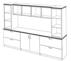 Executive Credenza / Hutch