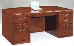 Executive Desk w/Bow Front