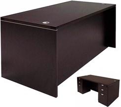 Rectangular Executive Desk w/6 Drawers