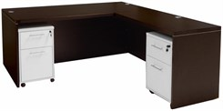 Mocha Executive L-Desk w/Desk Height Return