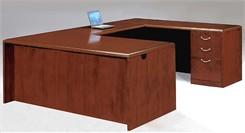 Executive U-Desk w/Box/Box/File Drawer Pedestals
