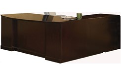 "72""W Executive ""L"" Bow Front Desk w/ Left Return"