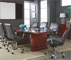 Expandable Cherry Veneer Conference Tables