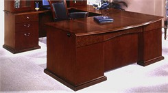 Executive U-Desk w/Bow Front Desk