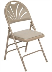 Fan Back Padded Folding Chair