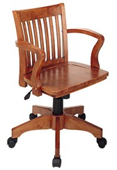 Fruitwood Banker's Chair
