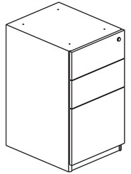 Box/Box/File Pedestal File for Credenza/Return