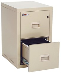 "FireKing Turtle 22""D 2-Drawer Fireproof Vertical File"