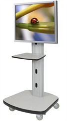 Mobile Flat Panel Stand AV Cart