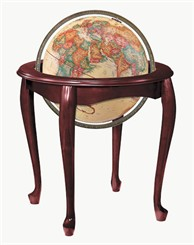 "16"" Queen Anne Floor Globe"