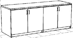 Four Door Storage Credenza
