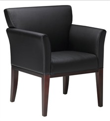 Fully Upholstered Leather Guest Chair