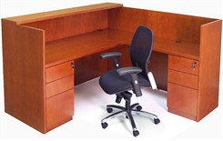 Genuine Cherry Veneer Reception Desk