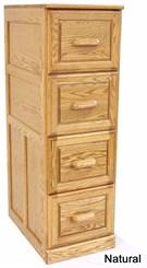 Genuine Oak Vertical Files