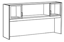 Custom Glass Door Hutch