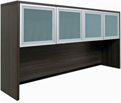 "Charcoal 71"" Glass Door Hutch"