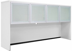 White Glass Door Storage Hutch