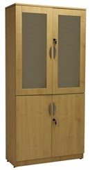 Maple Glass Door Wall Unit