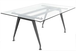 6' Glass Table Desk